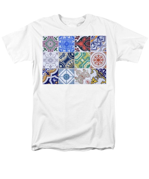 Men's T-Shirt  (Regular Fit) featuring the photograph Sintra Tiles by Carlos Caetano