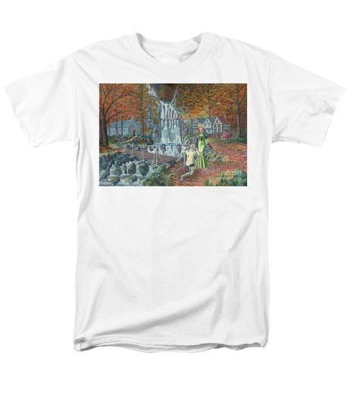 Men's T-Shirt  (Regular Fit) featuring the painting Sir Galahad Becomes Queen's Champion by Anthony Lyon