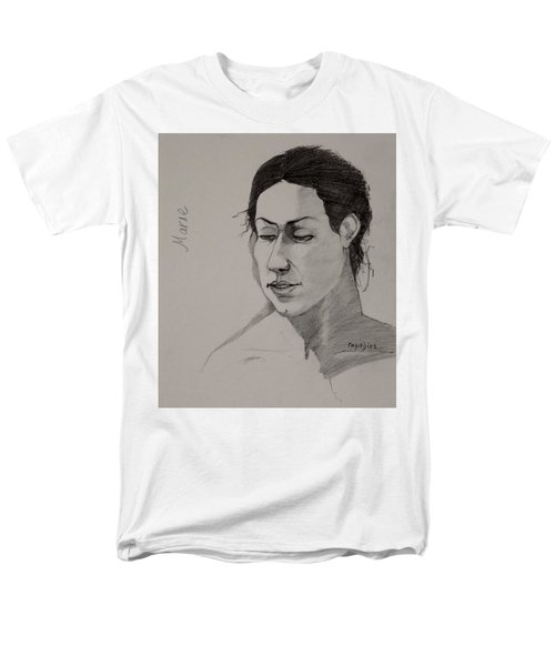 Men's T-Shirt  (Regular Fit) featuring the drawing Sketch For Marie 2 by Ray Agius