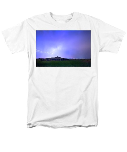 Men's T-Shirt  (Regular Fit) featuring the photograph Sky Monster Above Haystack Mountain by James BO Insogna