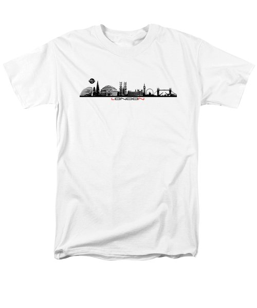 skyline city London black Men's T-Shirt  (Regular Fit) by Justyna JBJart