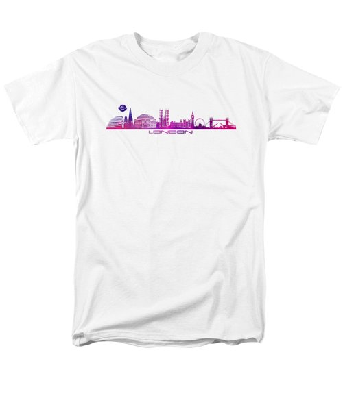 skyline city London purple Men's T-Shirt  (Regular Fit) by Justyna JBJart