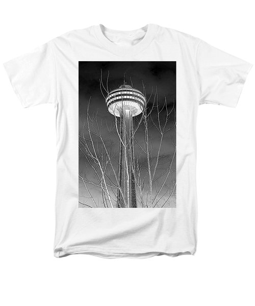 Men's T-Shirt  (Regular Fit) featuring the photograph Skylon Tower by Valentino Visentini