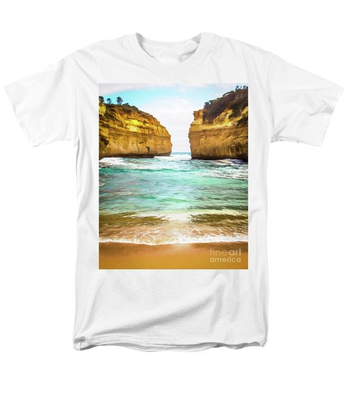 Men's T-Shirt  (Regular Fit) featuring the photograph Small Bay by Perry Webster