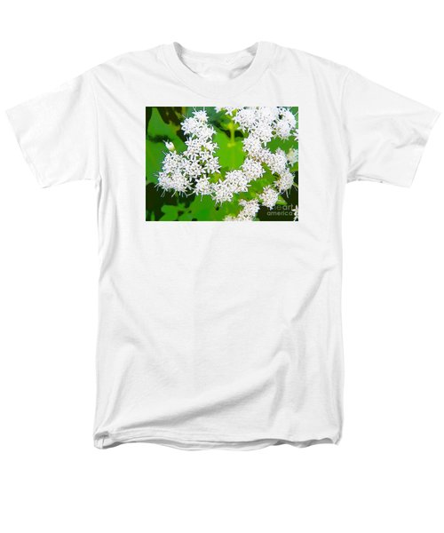 Small White Flowers Men's T-Shirt  (Regular Fit) by Craig Walters