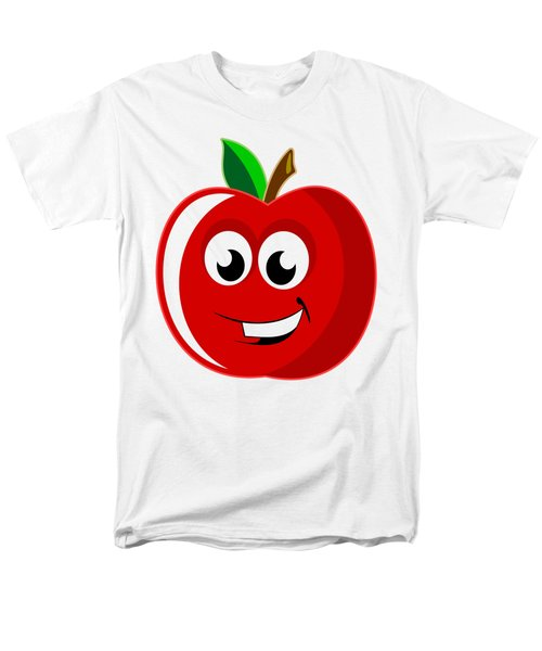 Smiley Tomato With Changeable Background  Men's T-Shirt  (Regular Fit) by Sebastien Coell