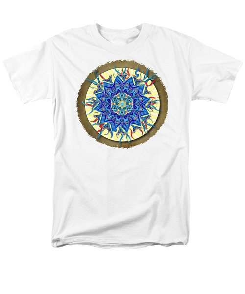 Smiling Blue Moon Mandala Men's T-Shirt  (Regular Fit) by Deborah Smith