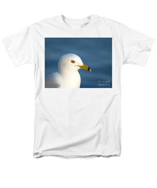 Smiling Seagull Men's T-Shirt  (Regular Fit) by Susan Dimitrakopoulos