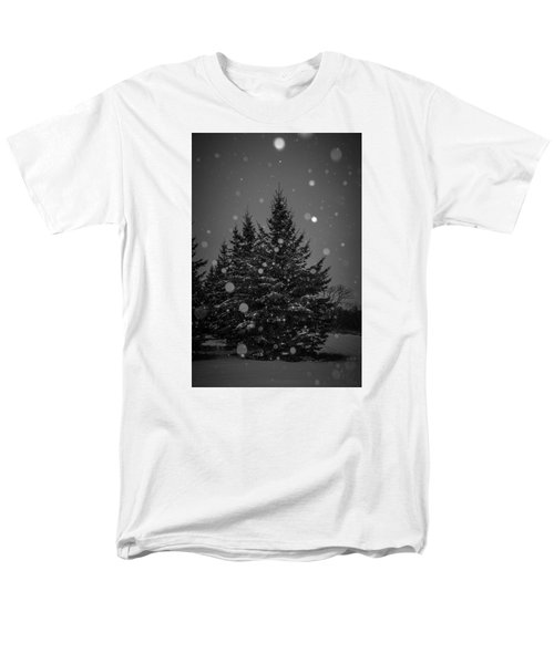 Men's T-Shirt  (Regular Fit) featuring the photograph Snow Flakes by Annette Berglund