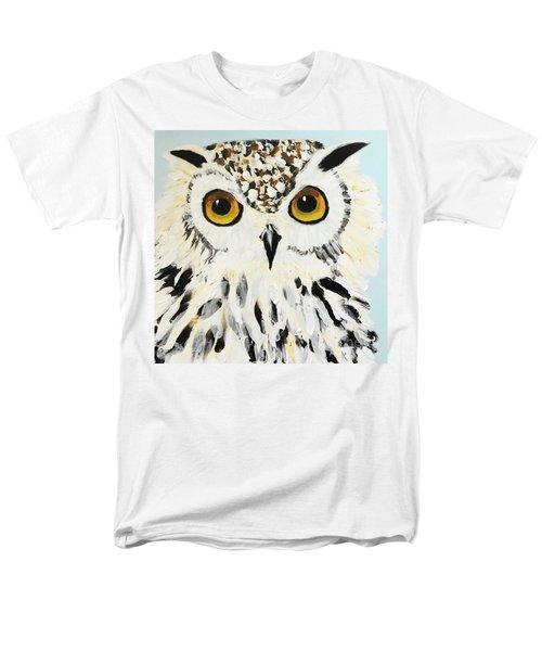 Snow Owl Men's T-Shirt  (Regular Fit) by Donald J Ryker III