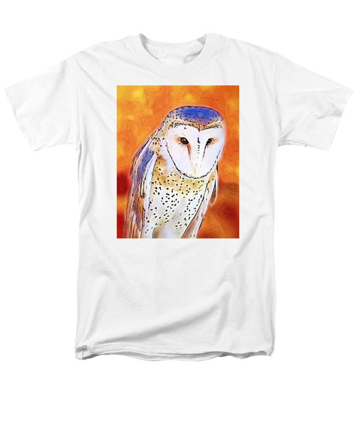 White Face Barn Owl Men's T-Shirt  (Regular Fit) by Tracie Kaska