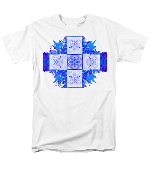 Snowflake Cross Men's T-Shirt  (Regular Fit) by Adria Trail