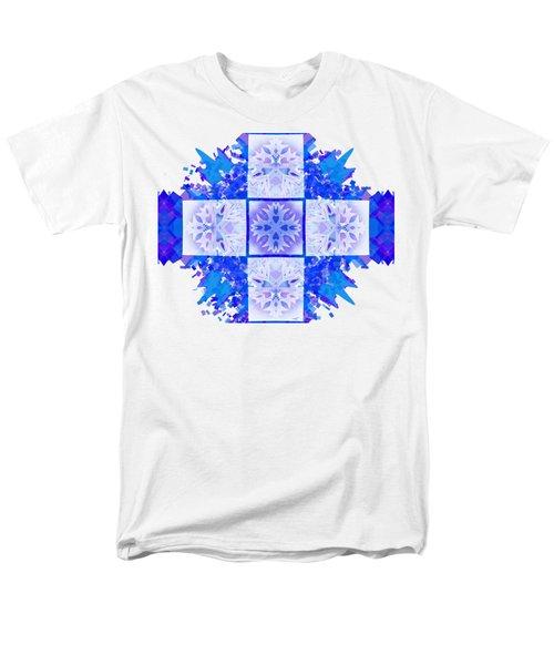 Men's T-Shirt  (Regular Fit) featuring the digital art Snowflake Cross by Adria Trail