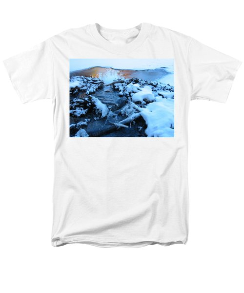 Snowy Reflections Men's T-Shirt  (Regular Fit) by Angela Murray