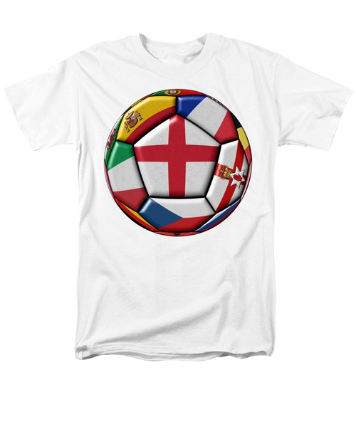 Soccer Ball With Flag Of England In The Center Men's T-Shirt  (Regular Fit) by Michal Boubin