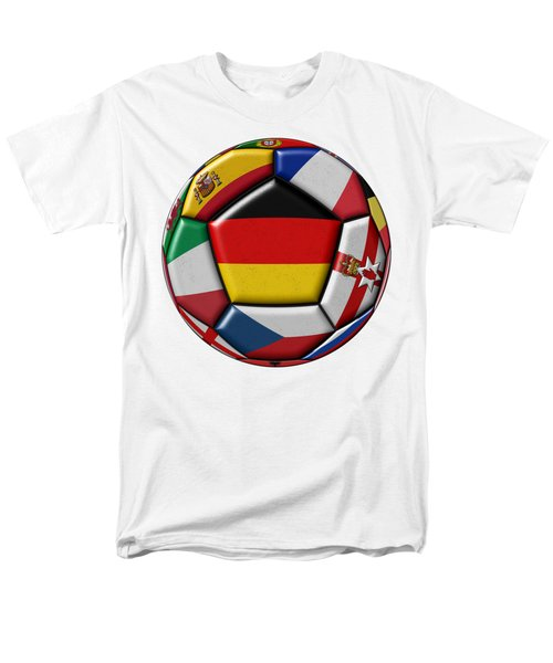 Soccer Ball With Flag Of German In The Center Men's T-Shirt  (Regular Fit) by Michal Boubin