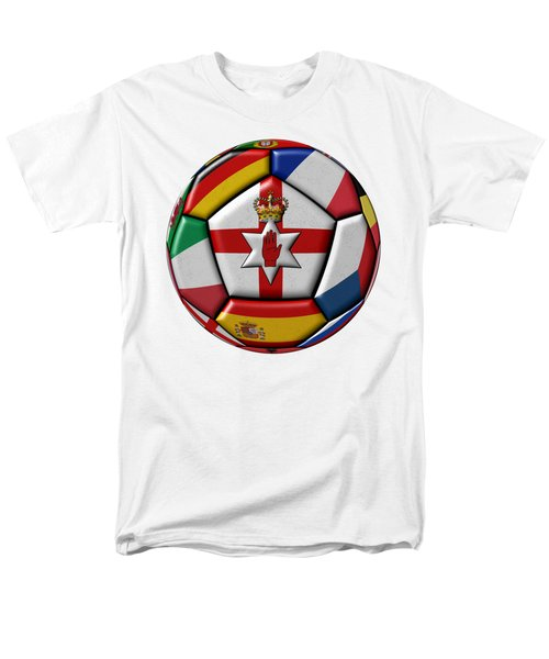 Soccer Ball With Flag Of Northern Ireland In The Center Men's T-Shirt  (Regular Fit) by Michal Boubin