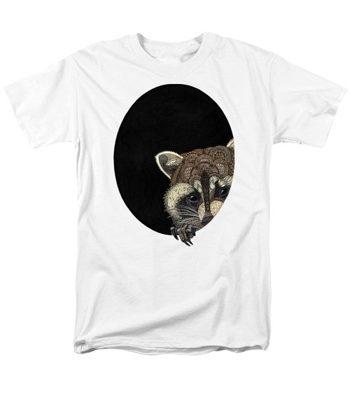 Socially Anxious Raccoon Men's T-Shirt  (Regular Fit) by ZH Field