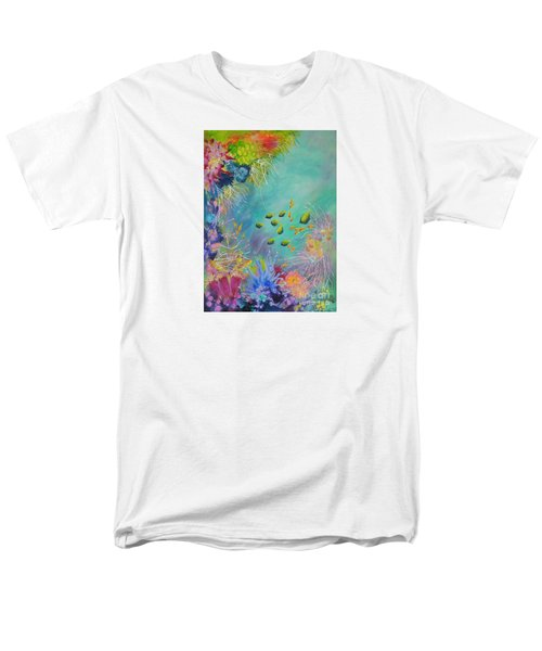 Men's T-Shirt  (Regular Fit) featuring the painting Soft And Hard Reef Corals by Lyn Olsen