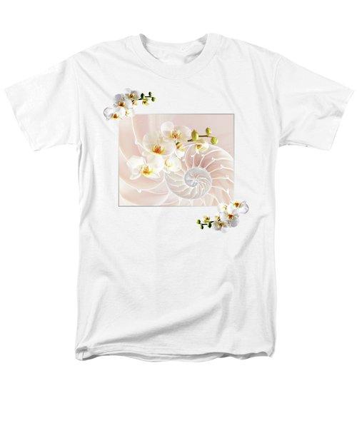 Soft Pink Fusion Men's T-Shirt  (Regular Fit) by Gill Billington