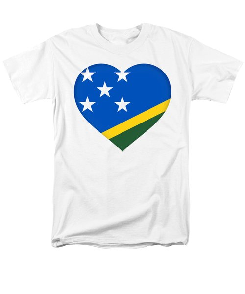 Solomon Islands Heart Men's T-Shirt  (Regular Fit) by Roy Pedersen