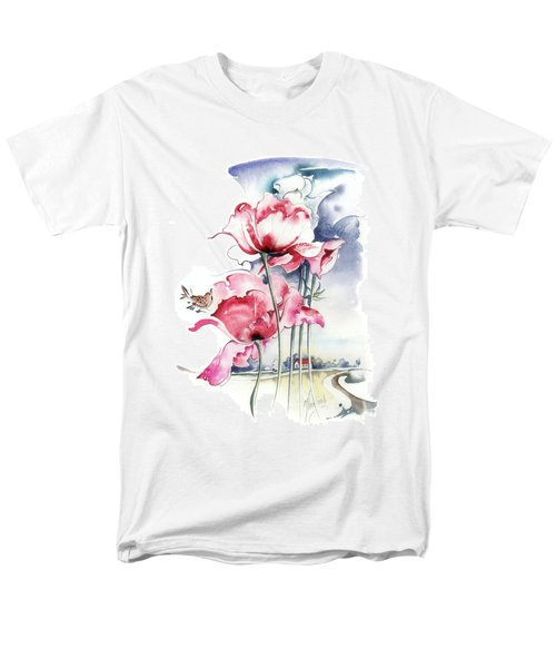 Men's T-Shirt  (Regular Fit) featuring the painting Song About The Earth by Anna Ewa Miarczynska