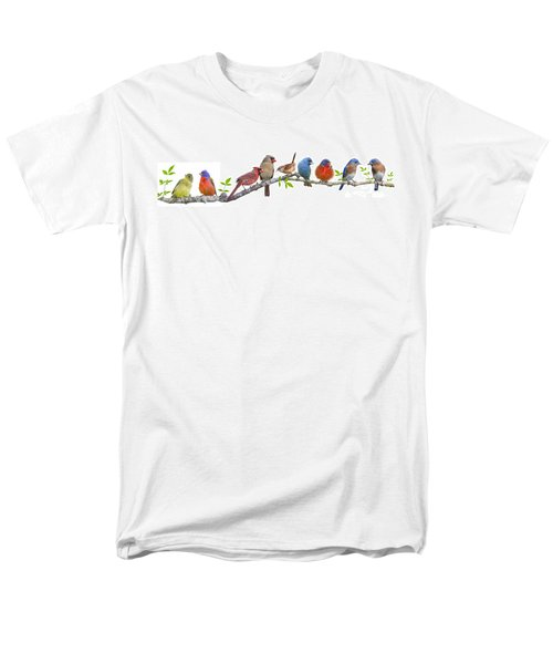 Songbirds On A Leafy Branch Men's T-Shirt  (Regular Fit) by Bonnie Barry