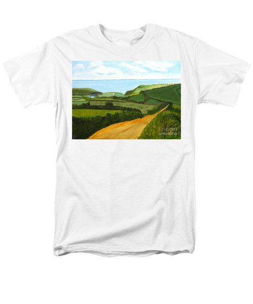 South West England Countryside Cotswold Area Men's T-Shirt  (Regular Fit) by Rod Jellison