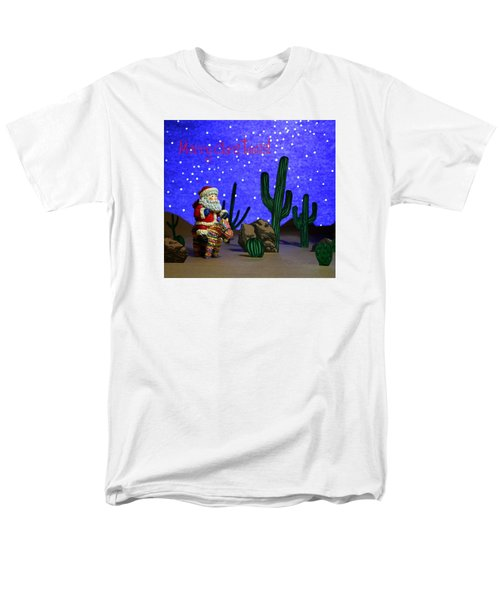 Men's T-Shirt  (Regular Fit) featuring the painting Southwest Santa  by Marna Edwards Flavell