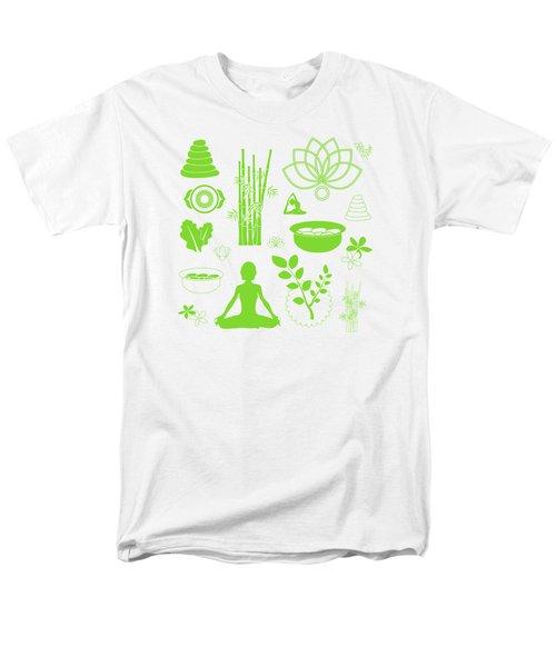 Spa Meditation Background Men's T-Shirt  (Regular Fit) by Serena King