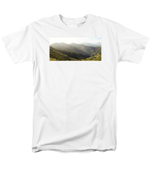 spanish mountain range, Malaga, Andalusia, Men's T-Shirt  (Regular Fit) by Perry Van Munster