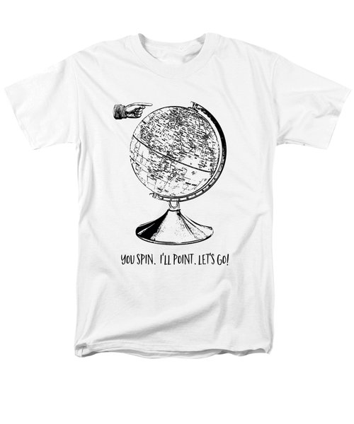 Spin The Globe Tee Men's T-Shirt  (Regular Fit) by Edward Fielding