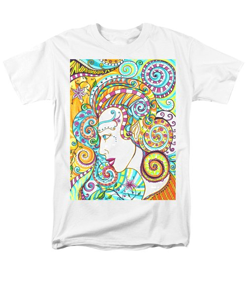 Men's T-Shirt  (Regular Fit) featuring the drawing Spiraled Out Of Control by Shawna Rowe