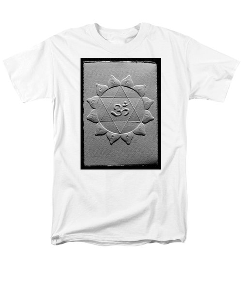 Men's T-Shirt  (Regular Fit) featuring the relief Spiritual Om Yantra by Suhas Tavkar