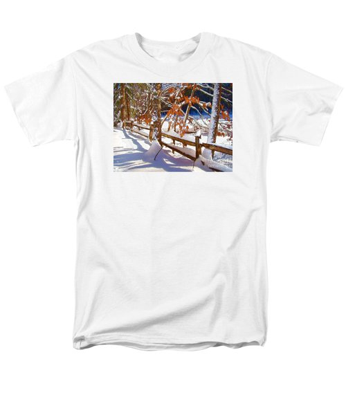 Split Rails Men's T-Shirt  (Regular Fit) by Betsy Zimmerli