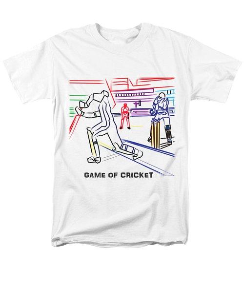 Sports Fan Cricket Played India England Pakistan Srilanka Southafrica Men's T-Shirt  (Regular Fit) by Navin Joshi