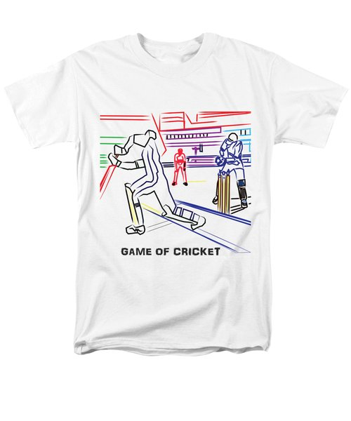 Sports Fan Cricket Played India England Pakistan Srilanka Southafrica Men's T-Shirt  (Regular Fit)