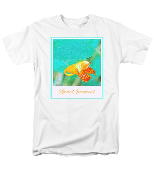 Men's T-Shirt  (Regular Fit) featuring the photograph Spotted Jewelweed Wildflower by A Gurmankin