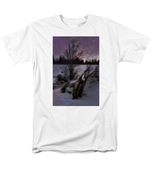 Men's T-Shirt  (Regular Fit) featuring the photograph Sprague Lake Winter Dream by Ellen Heaverlo