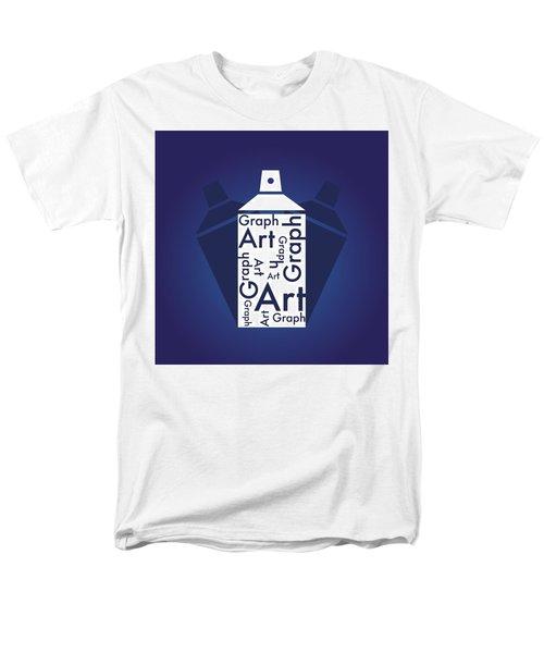 Graph Art Spray Can Men's T-Shirt  (Regular Fit) by Sheila Mcdonald