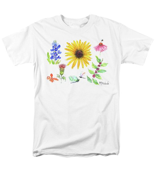 Spring 2017 Medley Watercolor Art By Kmcelwaine Men's T-Shirt  (Regular Fit) by Kathleen McElwaine