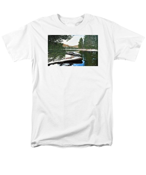 Men's T-Shirt  (Regular Fit) featuring the painting Spring Breakup by Kenneth M Kirsch