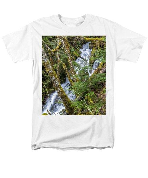 Spring Cascade Men's T-Shirt  (Regular Fit) by Chuck Flewelling