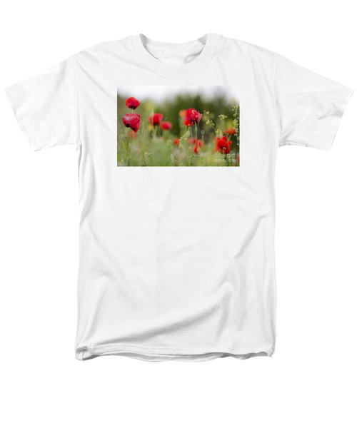Spring Poppies  Men's T-Shirt  (Regular Fit) by Perry Van Munster