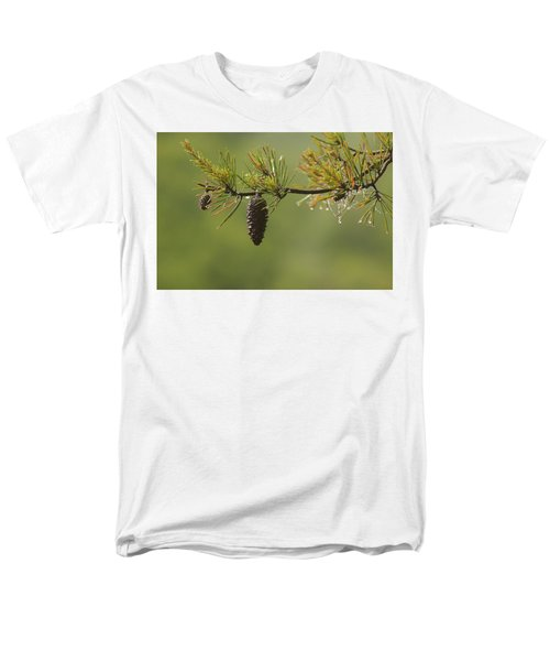 Spring Rain And Pinecone Men's T-Shirt  (Regular Fit) by Michael Eingle