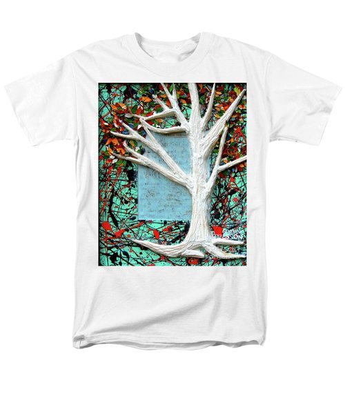 Men's T-Shirt  (Regular Fit) featuring the painting Spring Serenade With Tree by Genevieve Esson