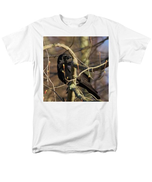 Men's T-Shirt  (Regular Fit) featuring the photograph Springtime Crow Square by Bill Wakeley
