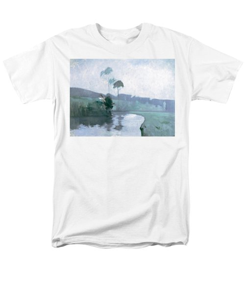 Men's T-Shirt  (Regular Fit) featuring the painting Springtime by John Henry Twachtman