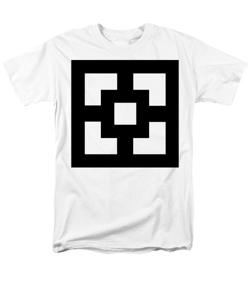 Men's T-Shirt  (Regular Fit) featuring the digital art Squares - Chuck Staley by Chuck Staley