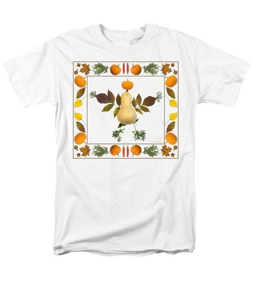 Men's T-Shirt  (Regular Fit) featuring the digital art Squash With Pumpkin Head by Lise Winne
